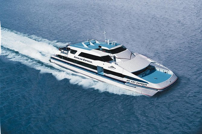 Round-trip ferry service from Long Beach to Catalina Island on the 'Catalina Express.'