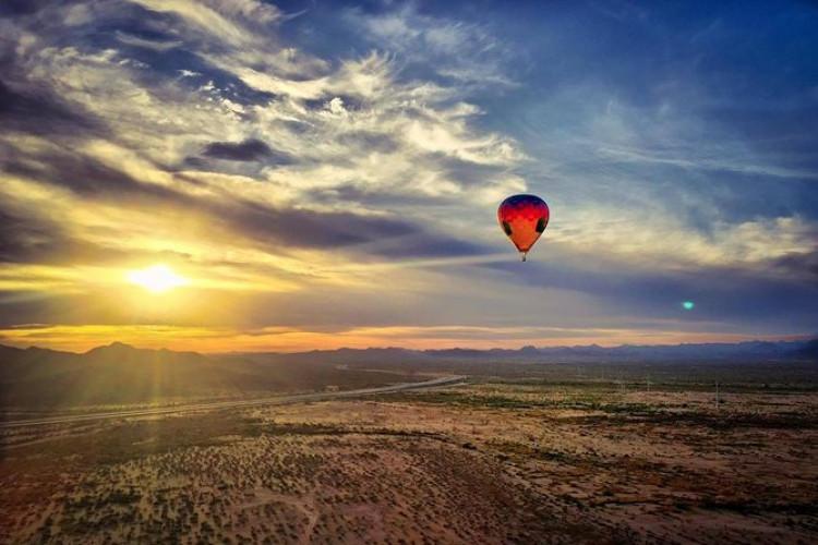Sunrise Hot Air Balloon Flight Over Phoenix