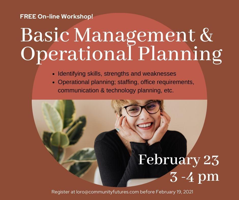 FREE! On-Line Workshop - Basic Management & Operational Planning