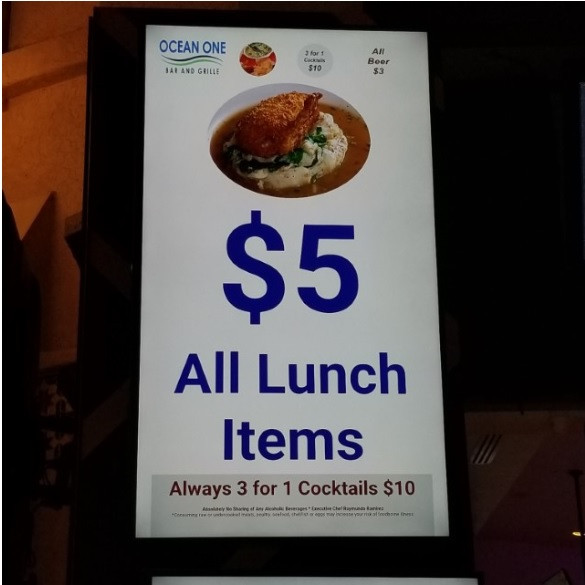 Daily $4.99 lunch special