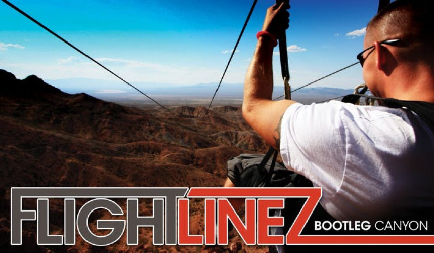 Flightlinez Bootleg Canyon | You'll believe you can fly when you experience the Bootleg Canyon Flightlines at up to 50 miles per hour over the top of Red Mountain in Boulder City.