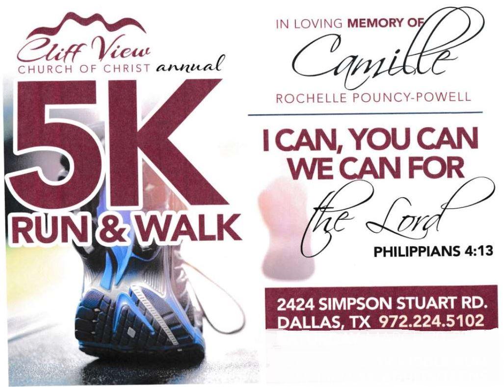 Camille Rochelle Pouncy-Powell 5K Run & Walk