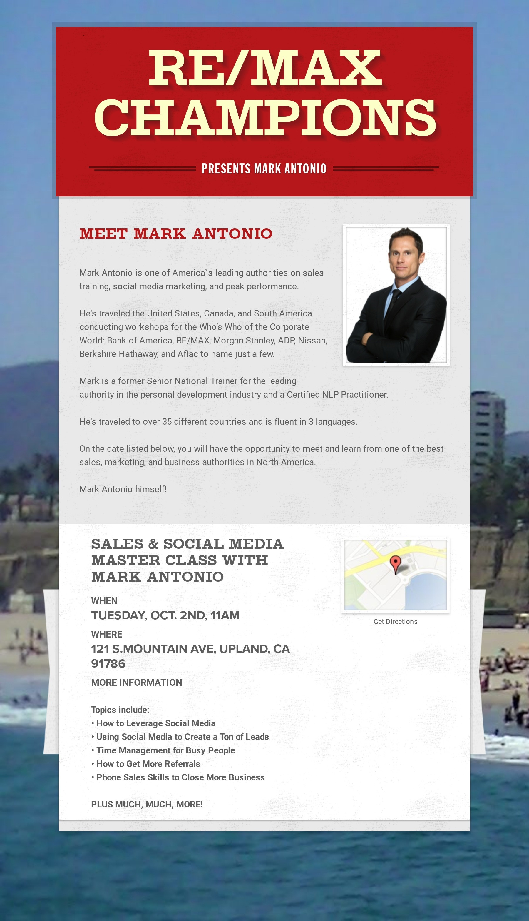 Sales & Social Media Master Class with Mark Antonio