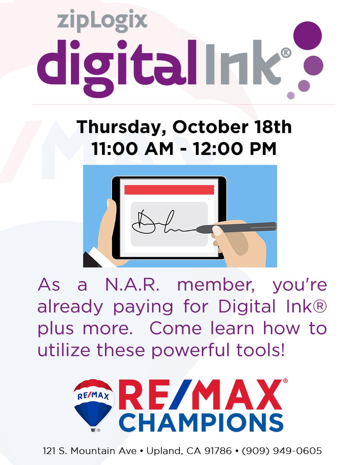 zipLogix & Digital Ink® class