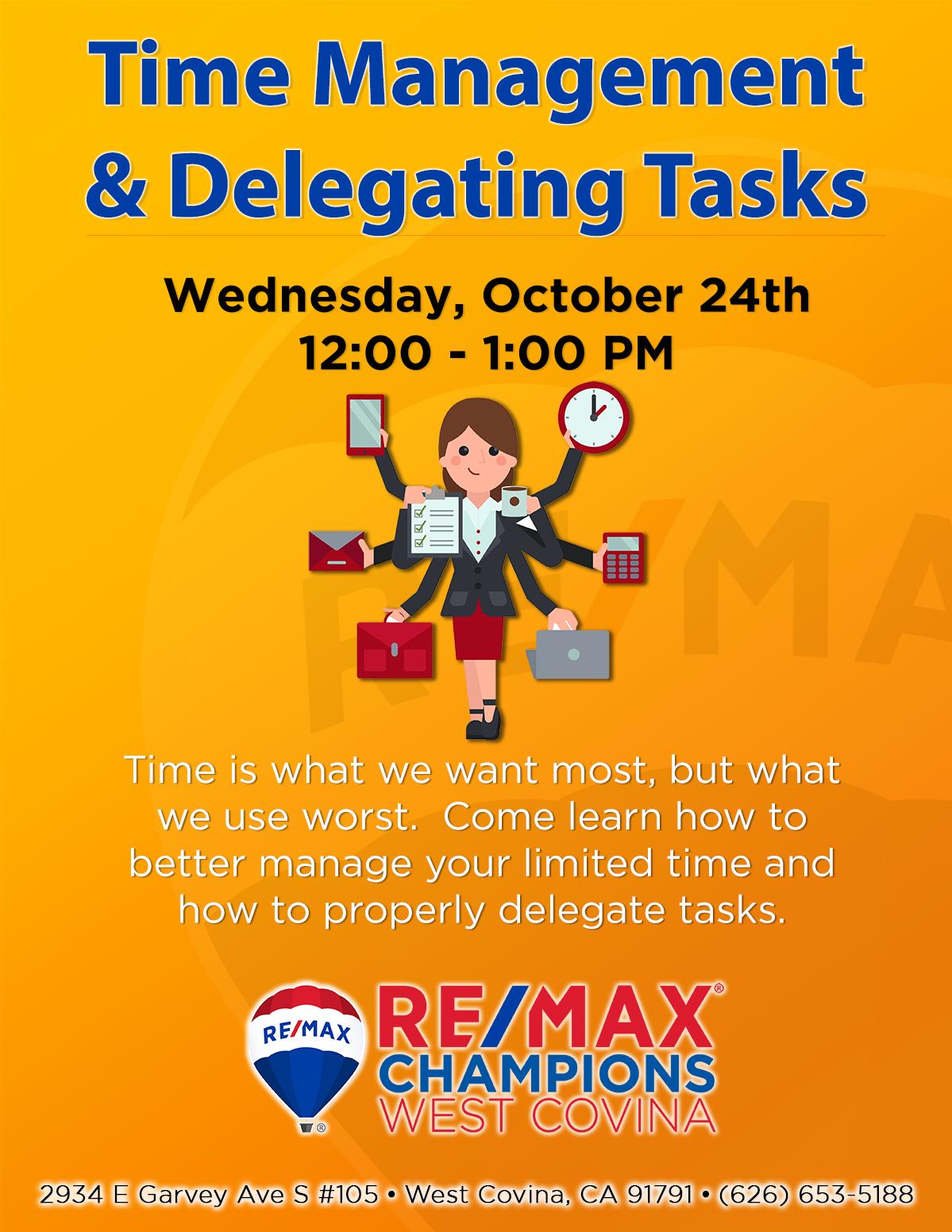 Time Management & Delegating Tasks