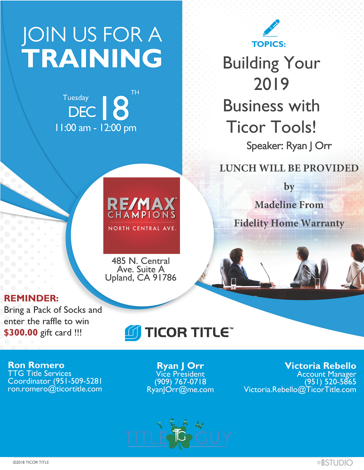 Building Your 2019 Business with Ticor Tools
