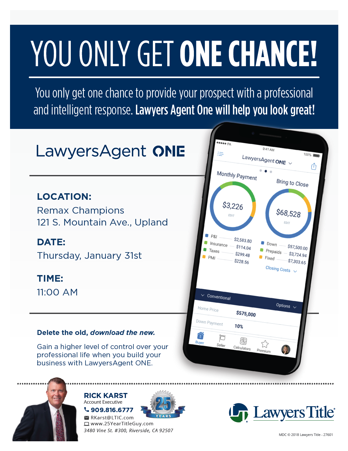 """LawyersAgent ONE"" Closing Costs App"