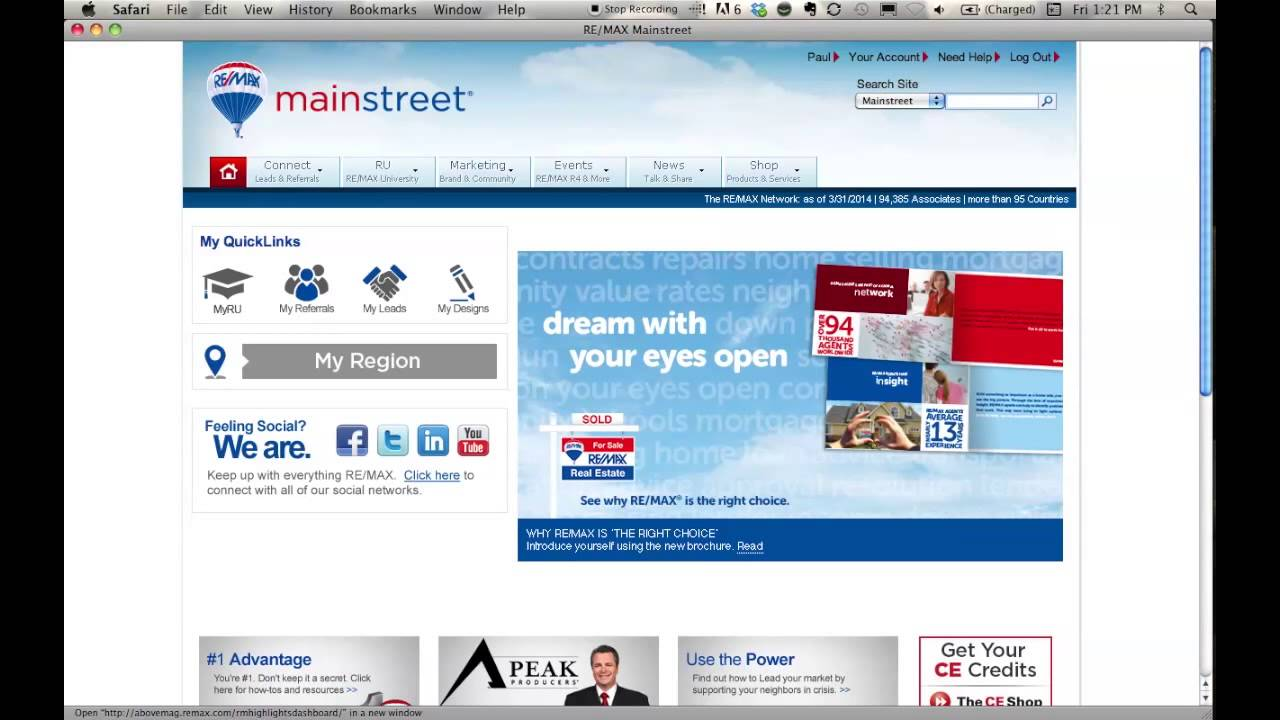 RE/MAX MainStreet Training (Lunch & Learn)