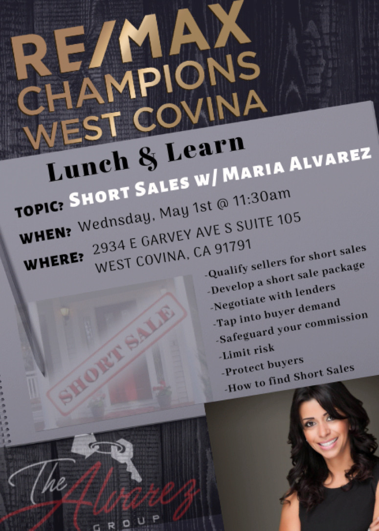 Short Sale Training with Maria Alvarez (Lunch & Learn)