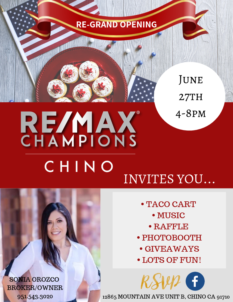 RE/MAX Champions Chino Grand Re-Opening