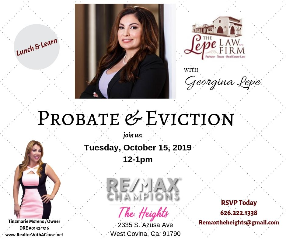 Attorney Georgina Lepe: Evictions & Probate (Lunch & Learn)