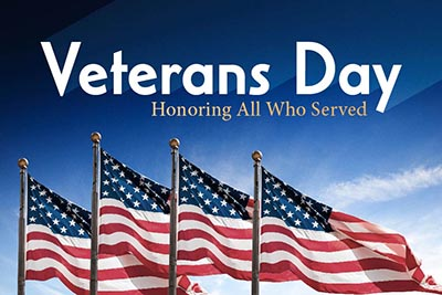 MOUNTAIN AVE. OFFICE CLOSED:  Veterans Day