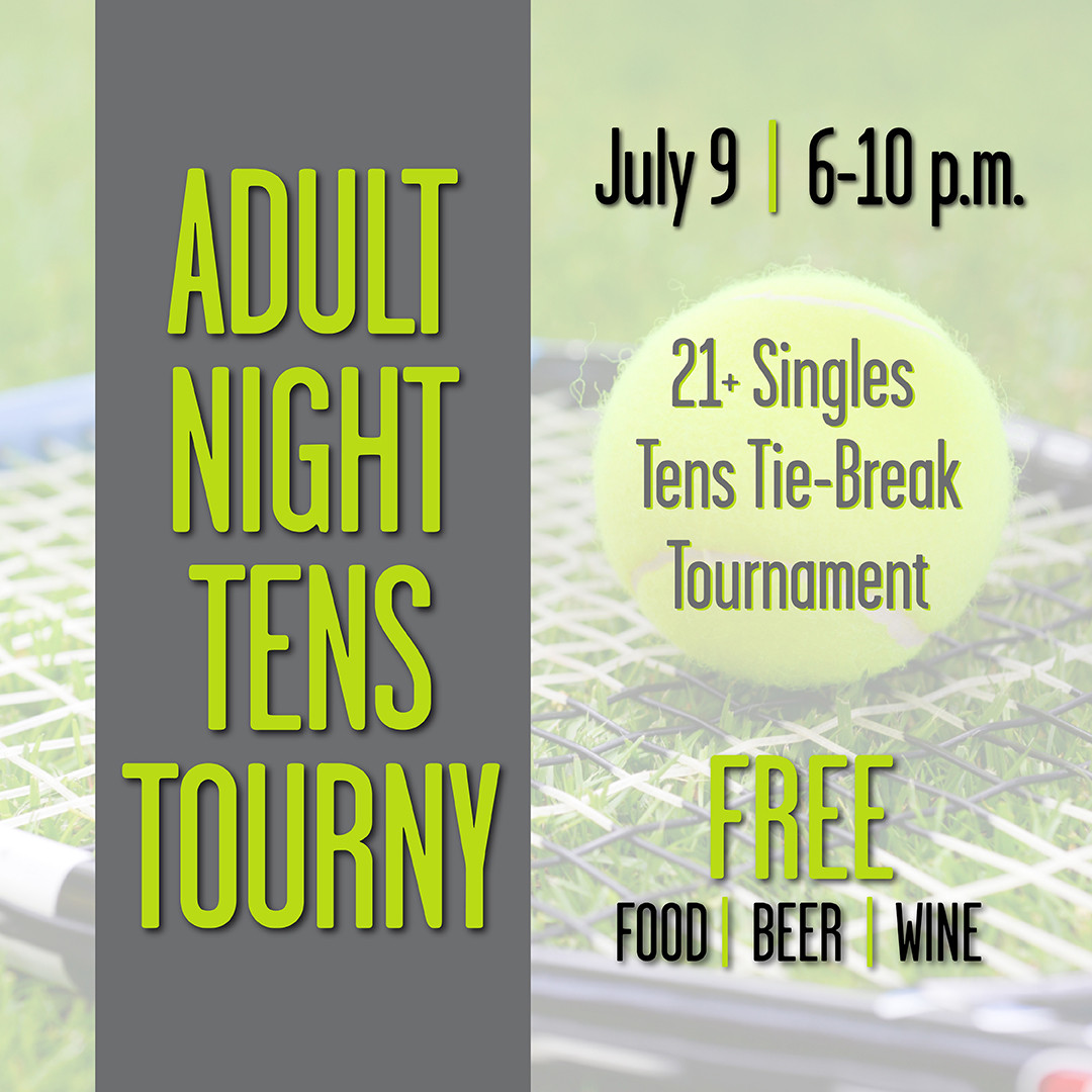 Flyer for Adult Night Tens Tourny