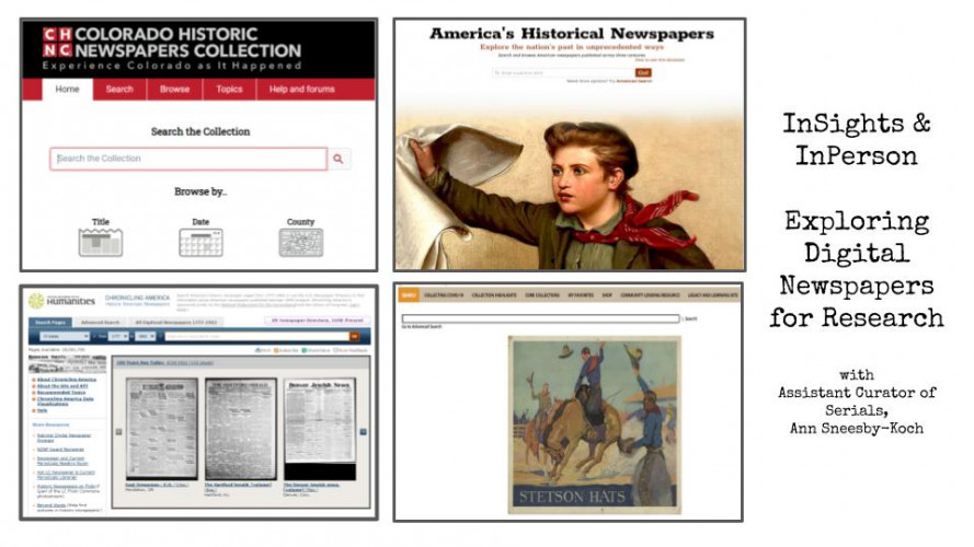 InSights & InPerson: How-To Explore Digital Newspapers for Research