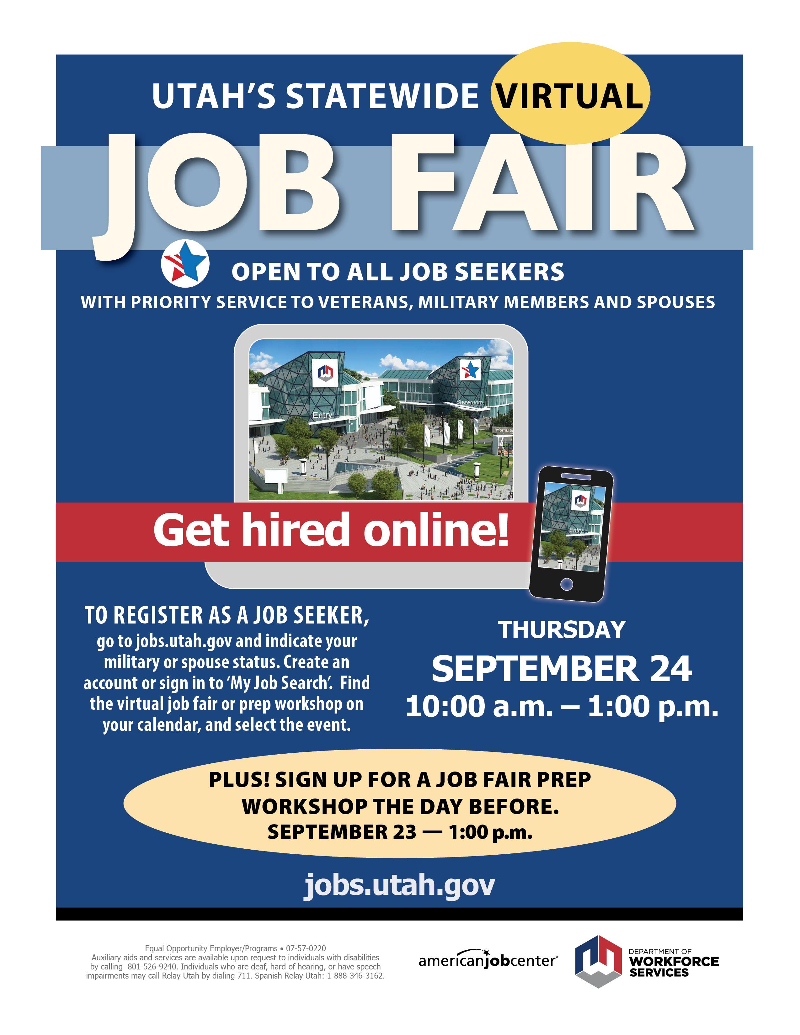 UTAH: Virtual Job Fair