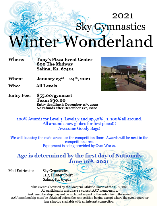 Sky Winter Wonderland Gymnastics Competition