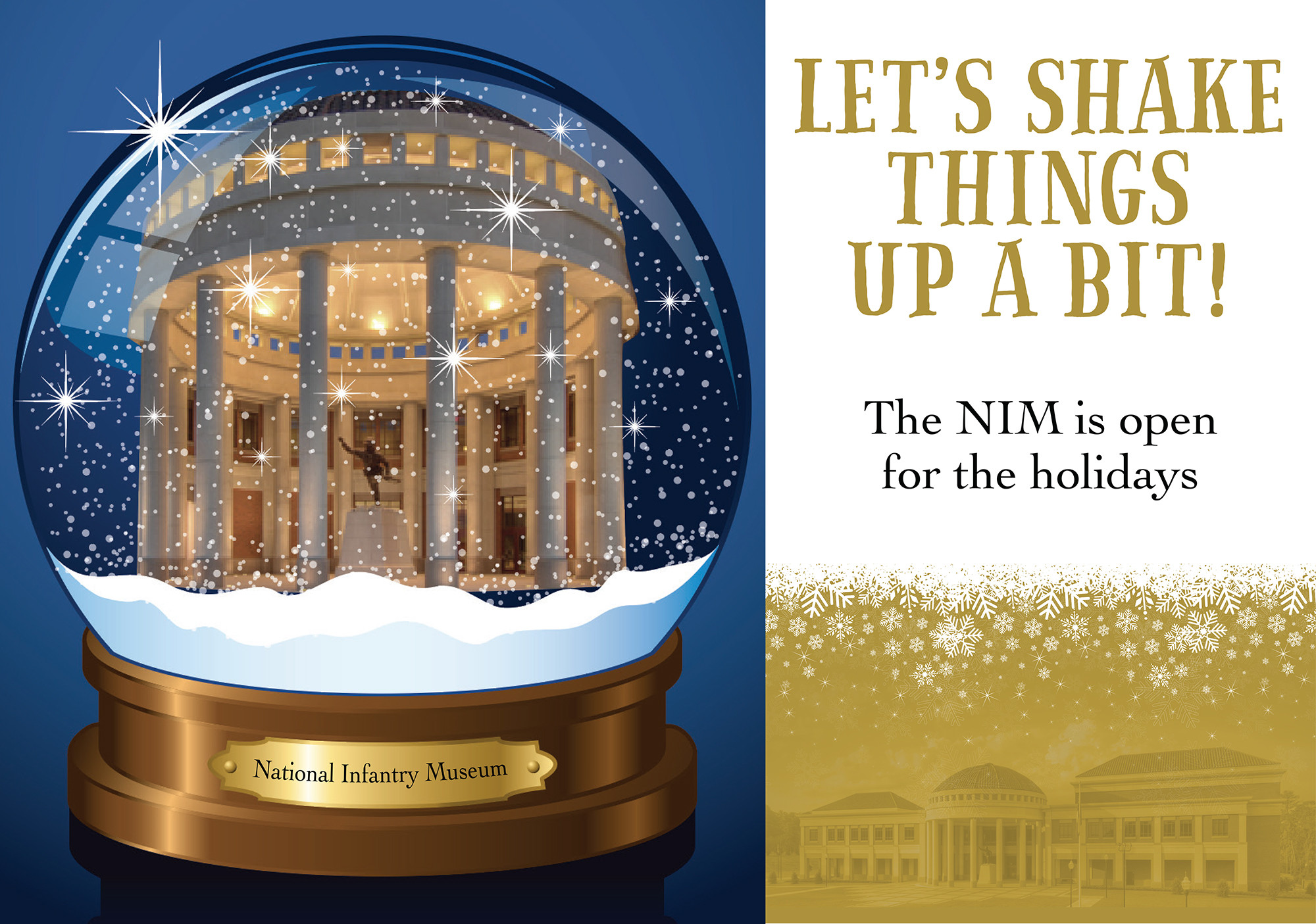 NIM Open for the Holidays!