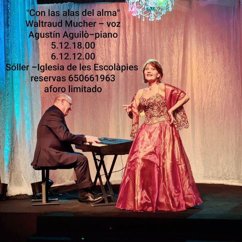 WALTRAUD GREGAN AND AGUSTIN AGUILO in concert at the Escolapies Cultural Centre @ ESCOLAPIES CULTURAL CENTRE IN SOLLER