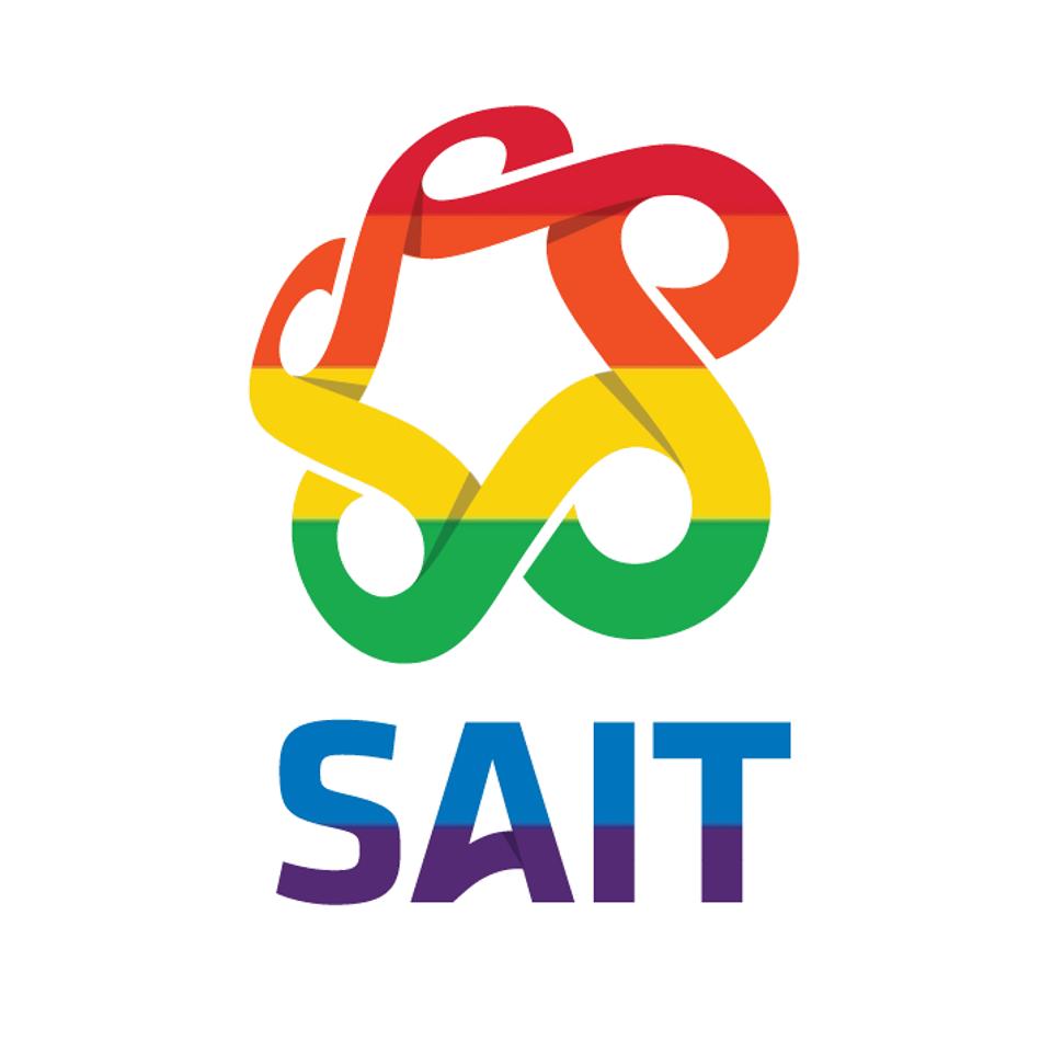SAIT pride logo