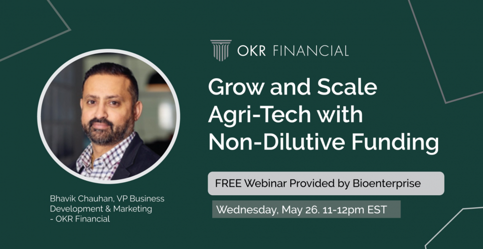 Grow and Scale Agri-Tech with Non-Dilutive Funding