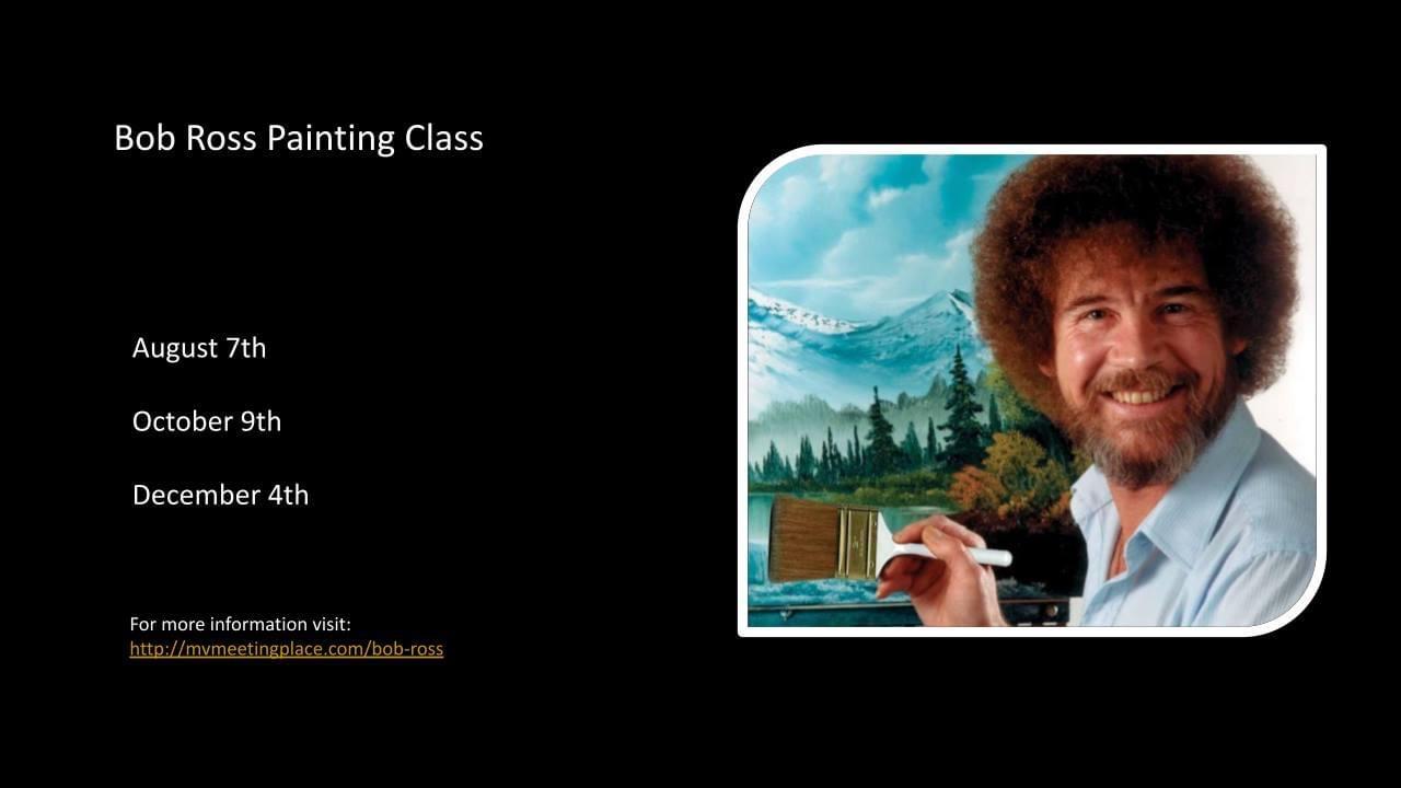 Bob Ross Painting Class.JPG