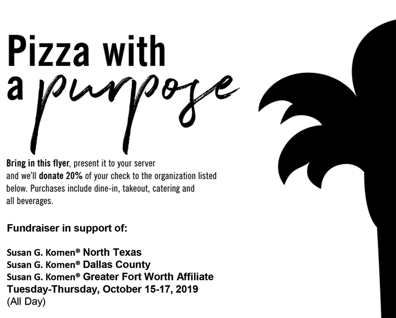Dine Out for the Cure with California Pizza Kitchen